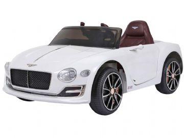 Bentley EXP12 White Licensed 12 volt Electric Ride on Toy Car With Parental Control + EVA Wheels